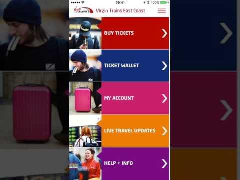 A look through the Virgin Trains East Coast Travel Buddy app