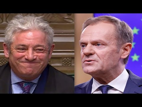 BREXIT SPEAKER BERCOW: I'm not responsible for Donald Tusk's 'special place in hell' comments