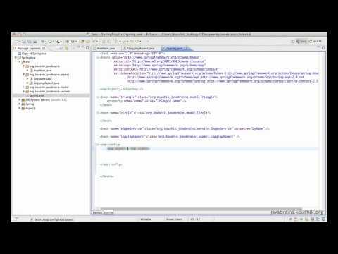 Spring Tutorial 34 - AOP XML configuration