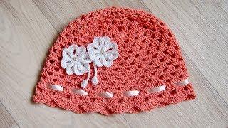 """🌸 Панамка крючком для начинающих """"Арина"""". Легко и быстро Урок 141   Panama crochet"""