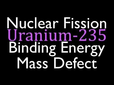 Mass Defect & Binding Energy (3 of 6), Fission of Uranium 235