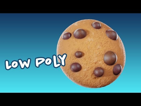 blender/substance-painter-timelapse:-low-poly-cookie