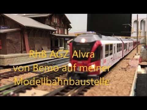 BEMO Modellbahn - AGZ Alvra - Gliedzugwagen Auf Meiner Modellbahnbaustelle