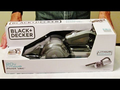BLACK+DECKER BDH2000PL MAX Lithium Pivot Vacuum, 20-volt Review from YouTube · Duration:  2 minutes 17 seconds