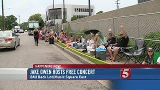 Country Singer Jake Owen Hosting Free Concert Monday