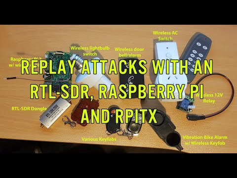 Replay Attacks at 433 MHz with RTL-SDR and a Raspberry Pi running RPiTX