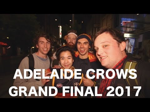 ADELAIDE CROWS HEADED TO GRAND FINAL 2017 (Street Interviews)