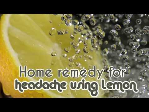 Lemon juice to cure headache