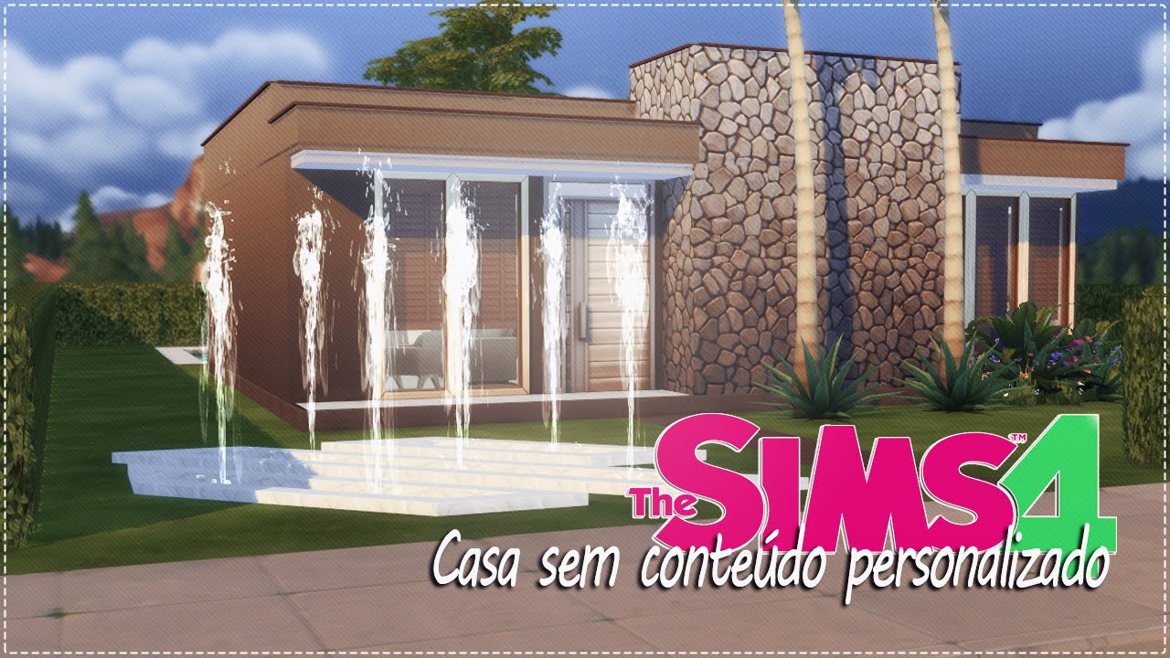 The sims 4 casa sem conte do personalizado youtube for Casas modernas sims 4 paso a paso