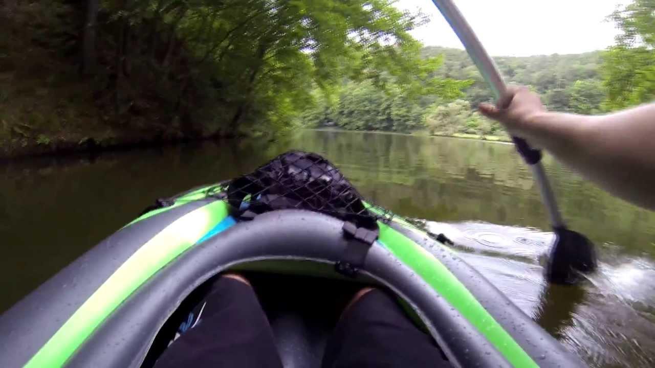 Intex Challenger K1 Kayak First test GOPRO HERO 3 Black