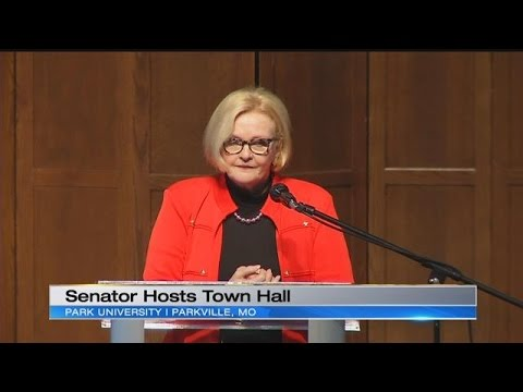 Sen. Claire McCaskill holds town hall meeting in Parkville