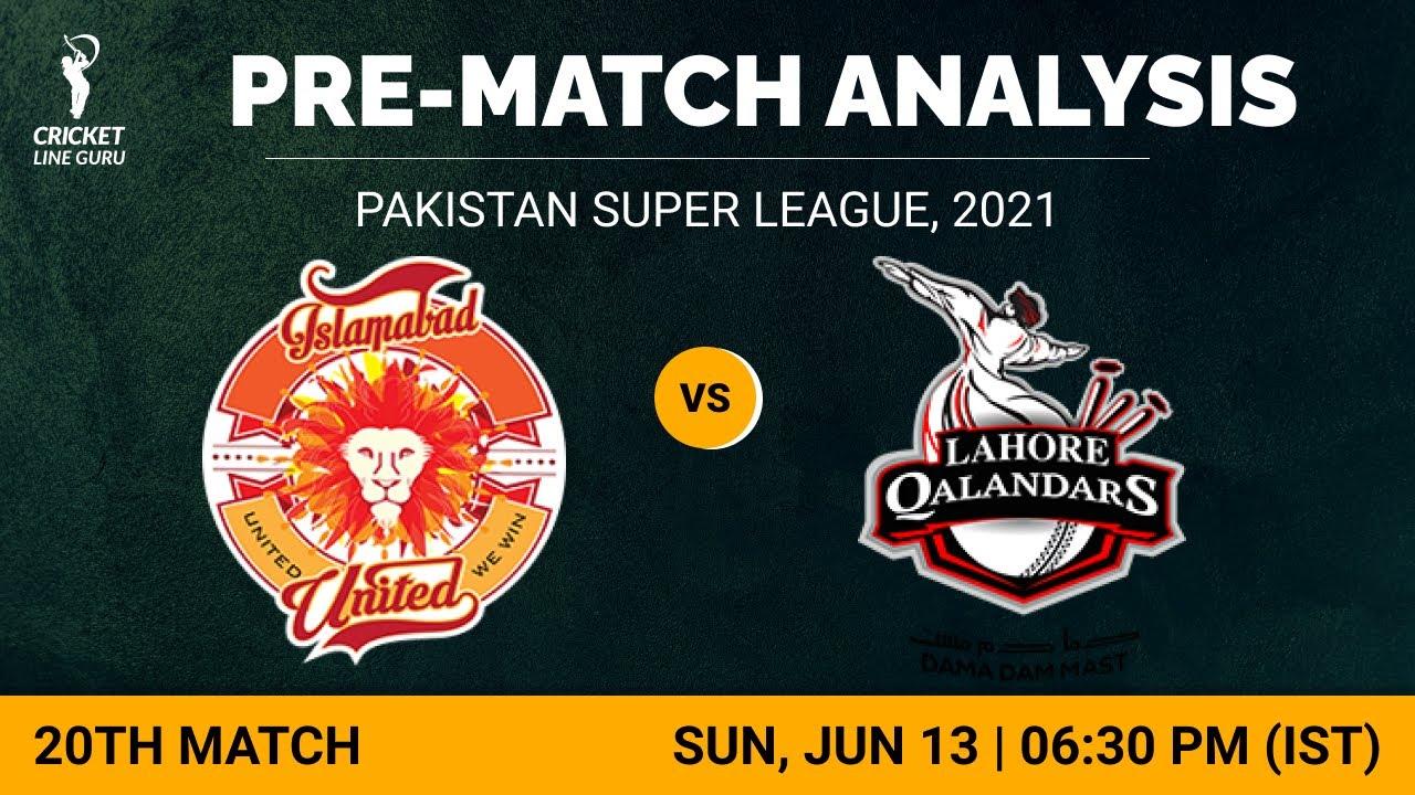 20th Match PSL202: Islamabad United vs Lahore Qalandars | Who will WIN? Match Analysis & Playing XI