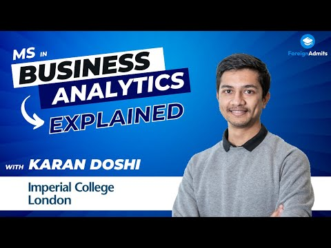 Mentor- Karan Doshi || Imperial College London || Master of Science- Business Analytics || UK