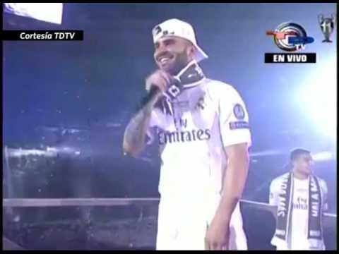 "Madridistas: ""Pique, bastard, greet the champion"" during their CL celebrations at Santiago Bernabeu"