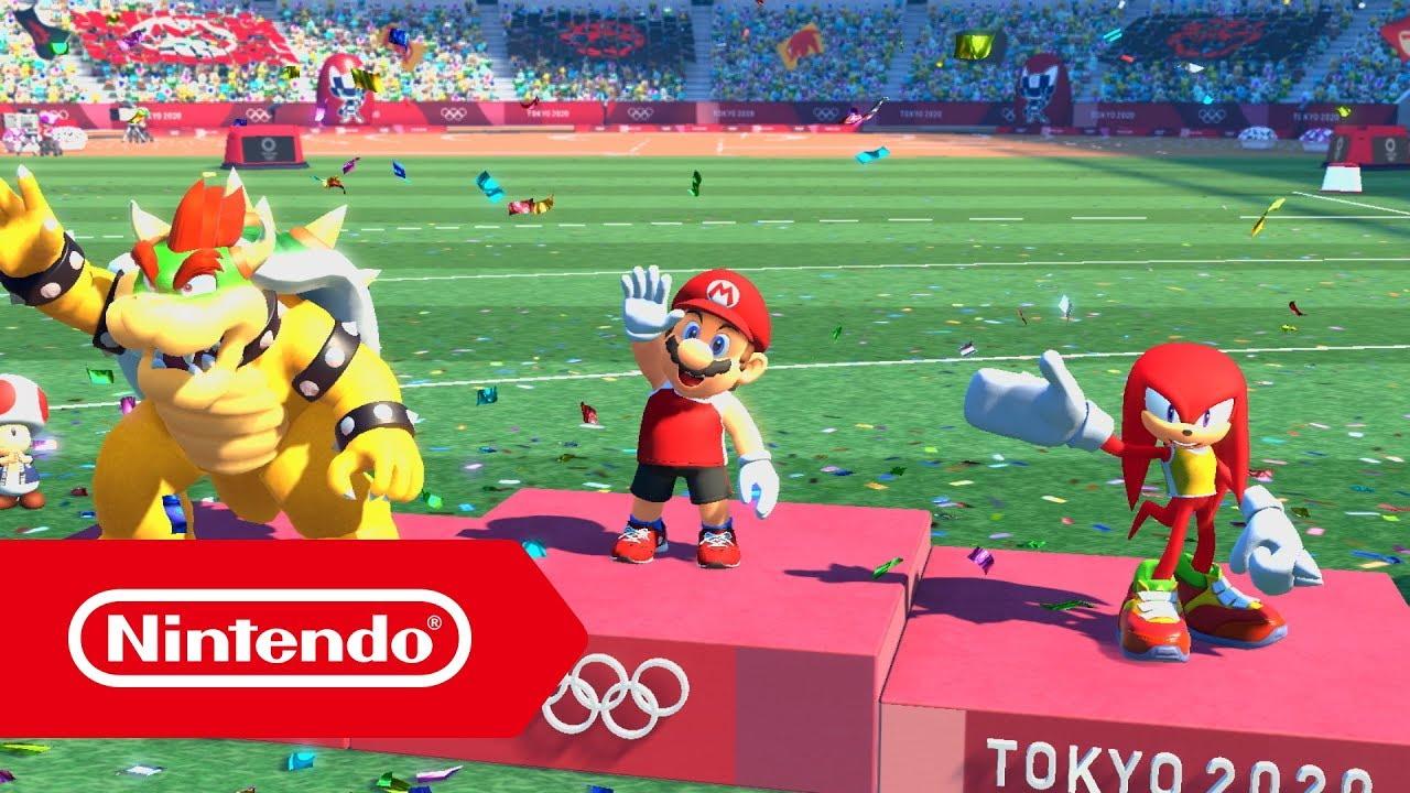 Mario Sonic En Los Juegos Olímpicos Tokio 2020 Tráiler Del E3 2019 Nintendo Switch Youtube