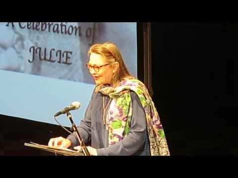 Cherry Jones At Julie Harris' Memorial Service ( Bernard B. Jacobs Theater ) 12/3/2013