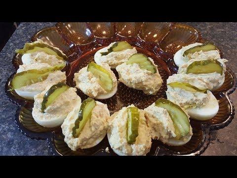 Chicken Salad Deviled Eggs/Deviled Egg Recipe