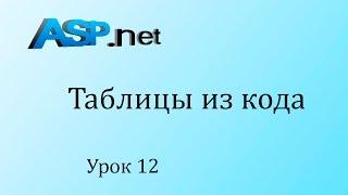 ASP.NET. Создаем таблицу на c#. Урок 12