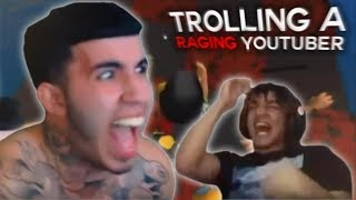 TROLLING A RAGING YOUTUBER WITH 200,000 SUBSCRIBERS ON ROBLOX LIVE!
