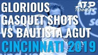 Glorious Richard Gasquet Shots In Win Over Bautista Agut | Cincinnati 2019 Day 5