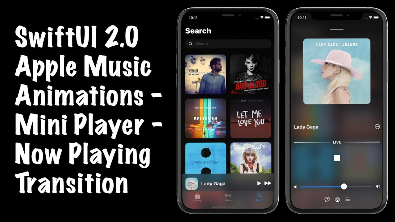 SwiftUI 2.0 Apple Music Animations - Mini Player - Now Playing Transition