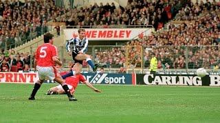 Sheffield Wednesday 1 Manchester United 0 | Rumbelows Cup final winning goal!