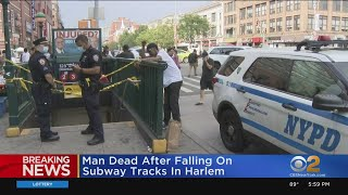 Man Dies After Falling On Subway Tracks In Harlem