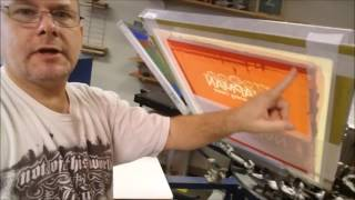 Using Cut Vinyl to screen-print a shirt