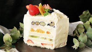 【彩りあざやか🍓】フルーツサンドケーキ thumbnail
