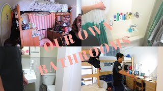 DORM TOUR (WE HAVE OUR OWN BATHROOMS)