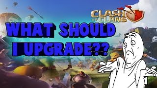 Clash of clans battles with clan mates what should I upgrade