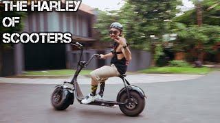 Skuter Listrik Mirip Harley Davidson [Scrooser] [CityCoco]