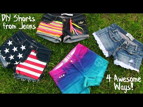 Thumbnail: DIY Clothes! 4 DIY Shorts Projects from Jeans! Easy