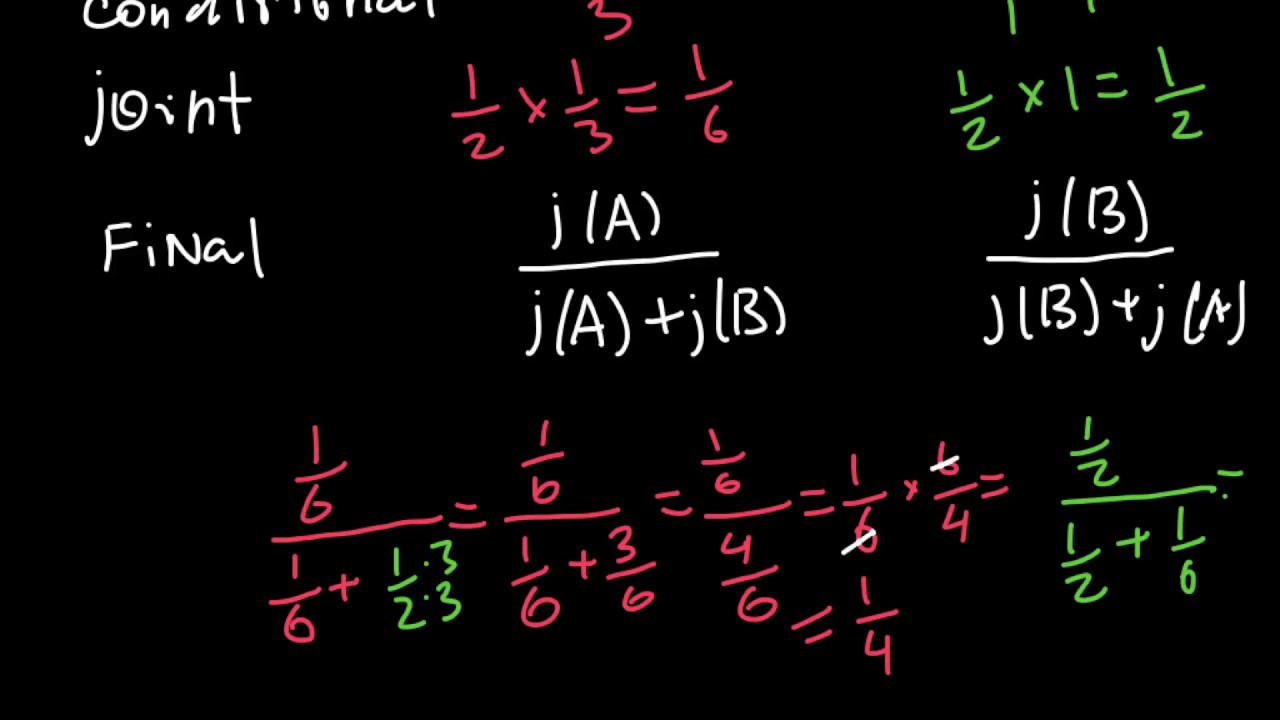 How to solve genetics problems using Bayes' theorem