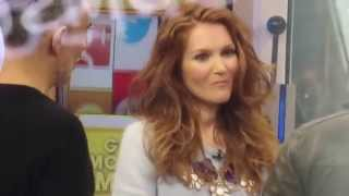Spotting Scandal Actress Darby Stanchfield at Good Morning America's Social Square