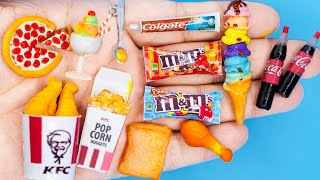 31 EASY DIY MINIATURE BARBIE IDEAS ~ Mini KFC , M&M , Pizza, Ice Creams and more!
