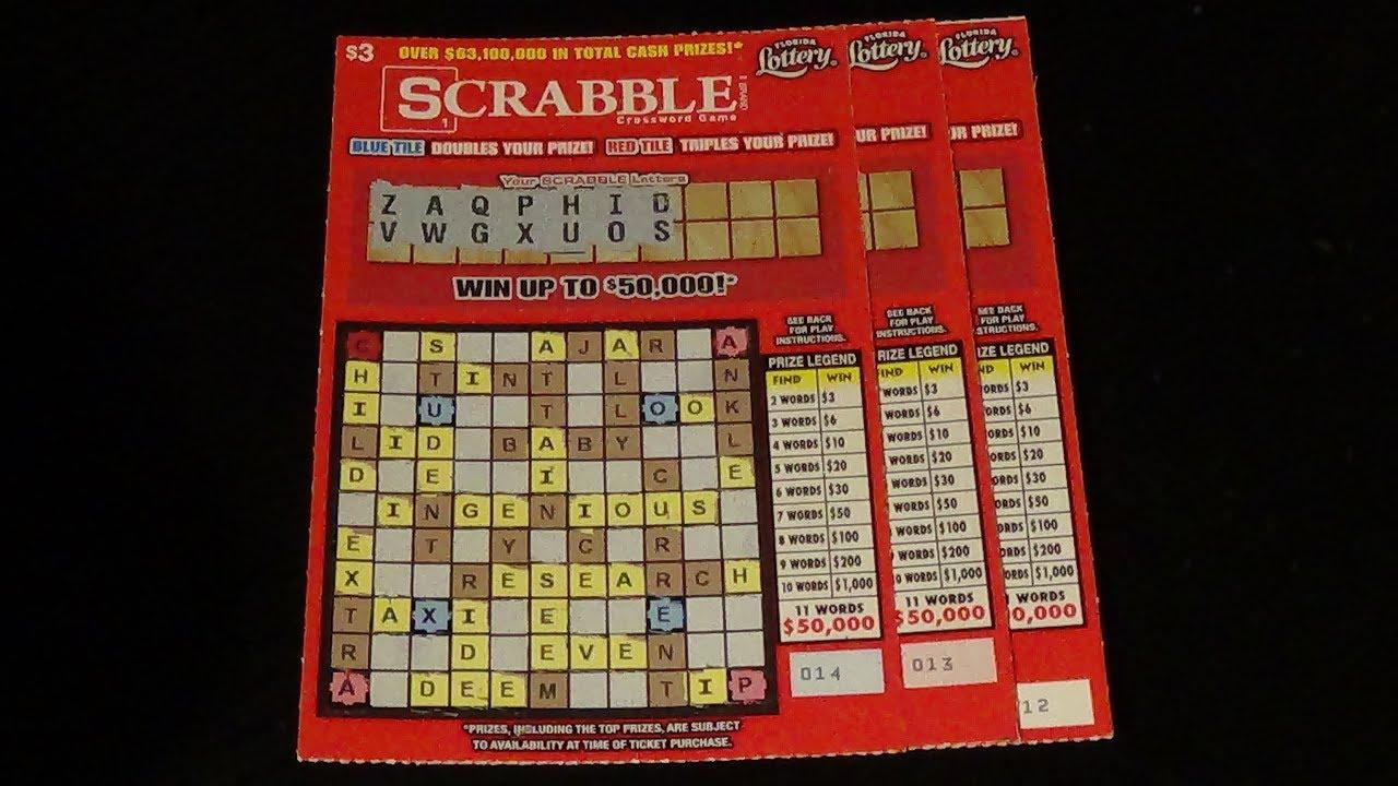 The Early Word 2 Scrabble Fl Lottery Crossword Scratch Tickets
