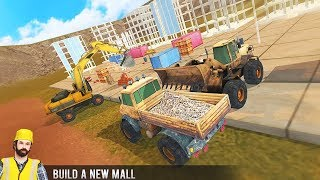 Real City Construction Game 2018 | Excavator, Truck, Buldozzer Driving - Android GamePlay 3D