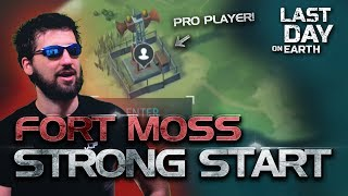 NEW BUILDING CHALLENGE! Fort Moss Last Day on Earth | Part 1