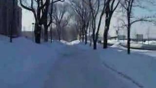 Visite en hiver du campus Laval à Quebec