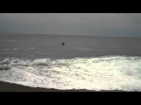 The Launch + Landing at Limekiln, Big Sur 2.5ft Swell 14sec