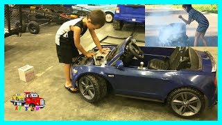 Powered Ride On Mustang On Fire Kruz To The Rescue Towing/Replacing The Battery on KV Show thumbnail