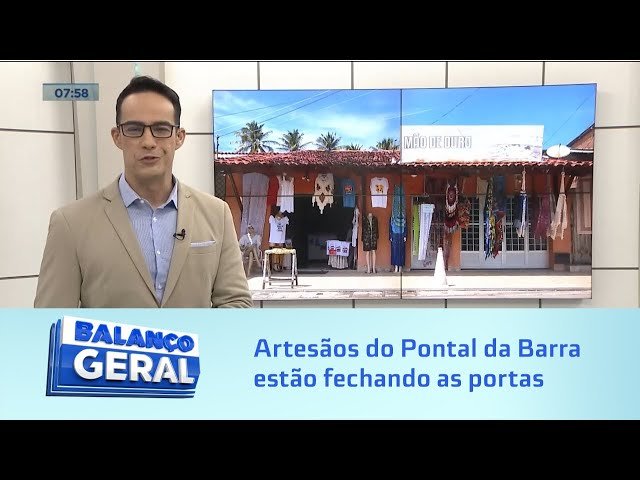 Baixo movimento: Sem vender, artesãos do Pontal da Barra estão fechando as portas
