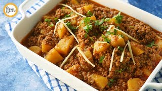 Dhaba Style Aloo Keema Recipe By Food Fusion