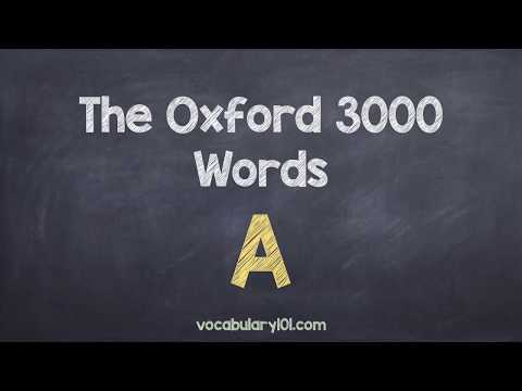 The Oxford 3000 Words Starting with A - Vocabulary Words with Definitions and Usage Examples