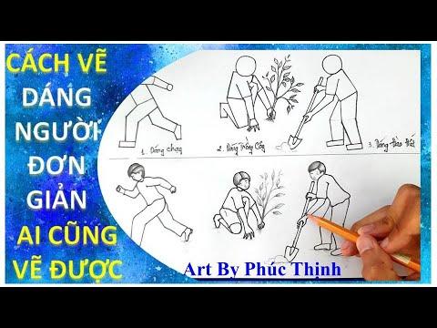 Cách vẽ dáng người đơn giản   Tập vẽ dáng người   Art By Phúc Thịnh   Tất tần tật các tài liệu liên quan vẽ dáng người đơn giản chính xác nhất