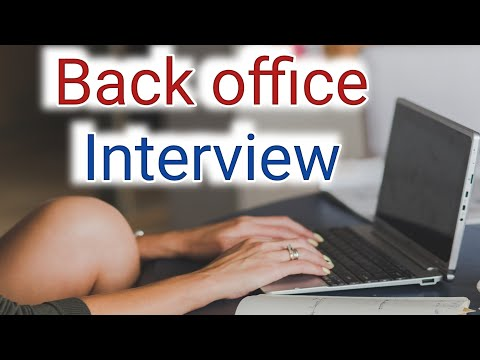 Back Office Fresher Interview Skill Required For Interview