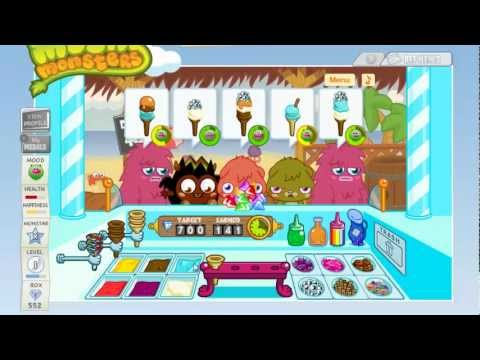 Moshi Monsters Ice Cream game level 40 YouTube