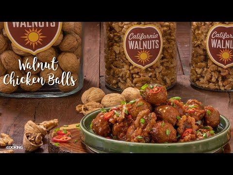 Walnut Chicken Balls with Spicy Sauce | California Walnuts India