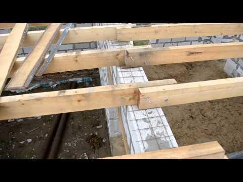 видео: перекрытие первого этажа балками, Армопояс (поясок для сна) (день 2)